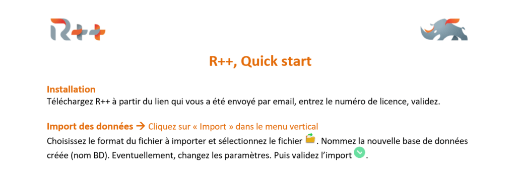 Quick Start guide du logiciel statistique R++ photo 1